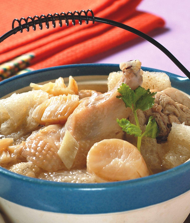 食譜:干貝竹笙雞湯