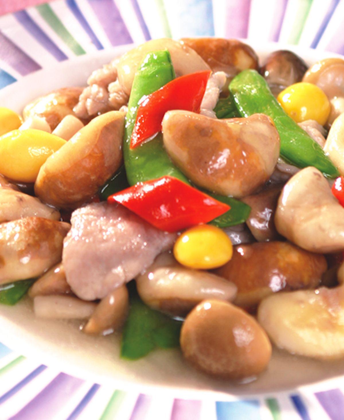 食譜:菱角燴鮮菇