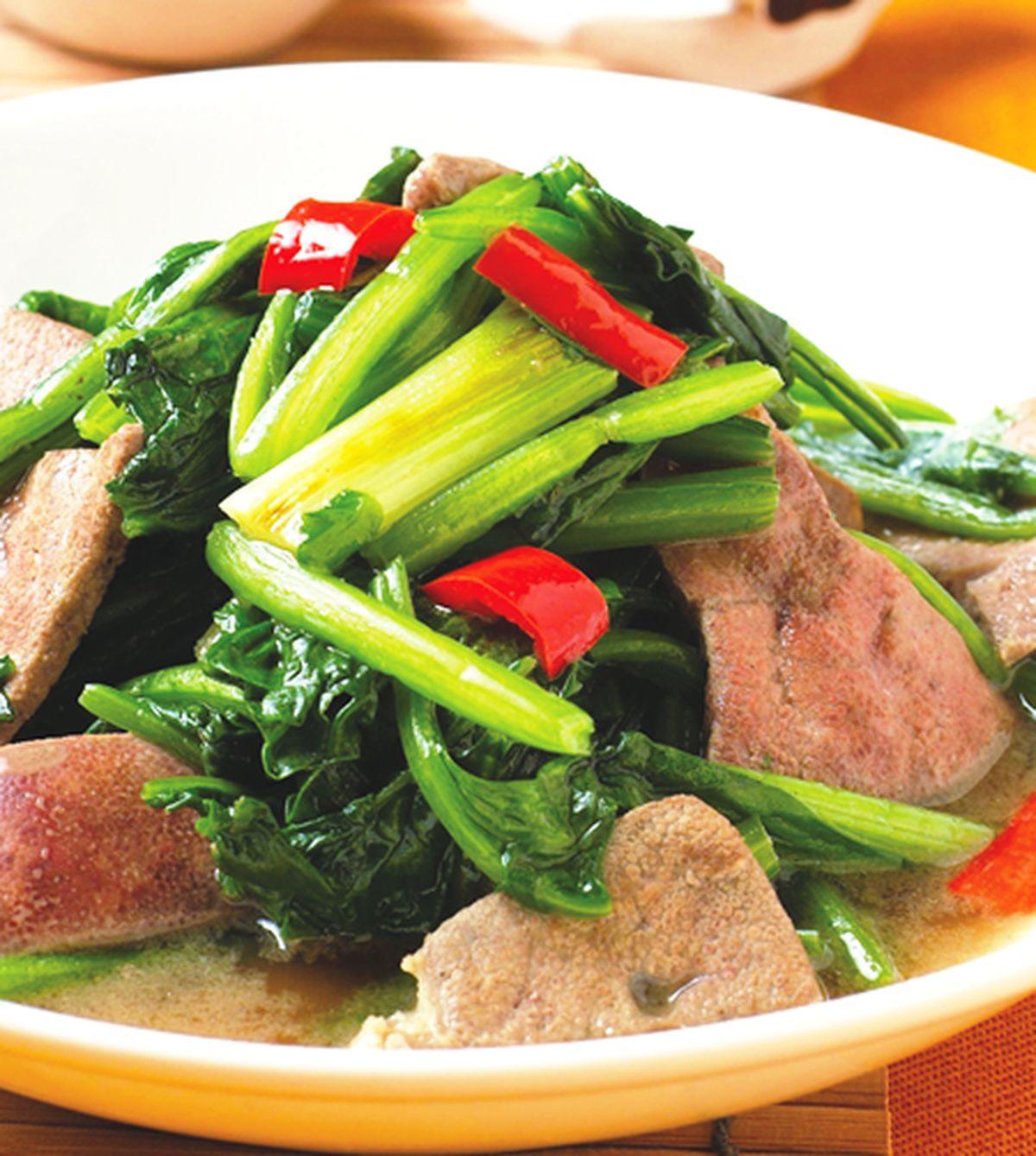 食譜:菠菜炒豬肝