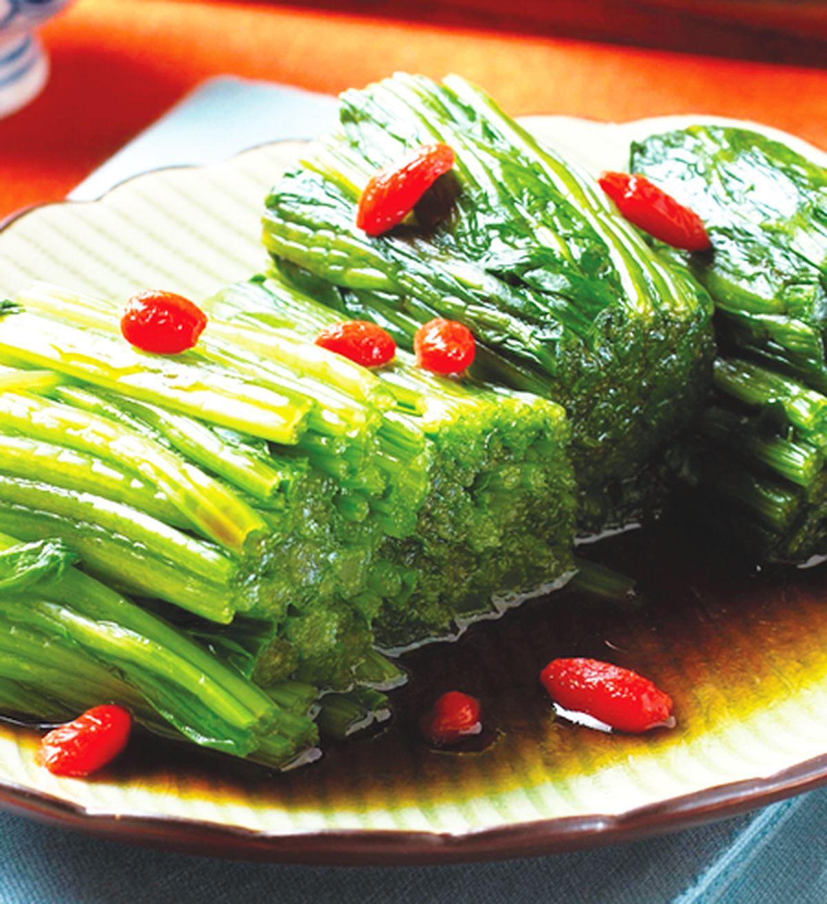 食譜:枸杞菠菜