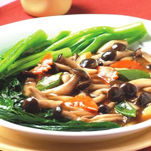 芥蘭扒鮮菇