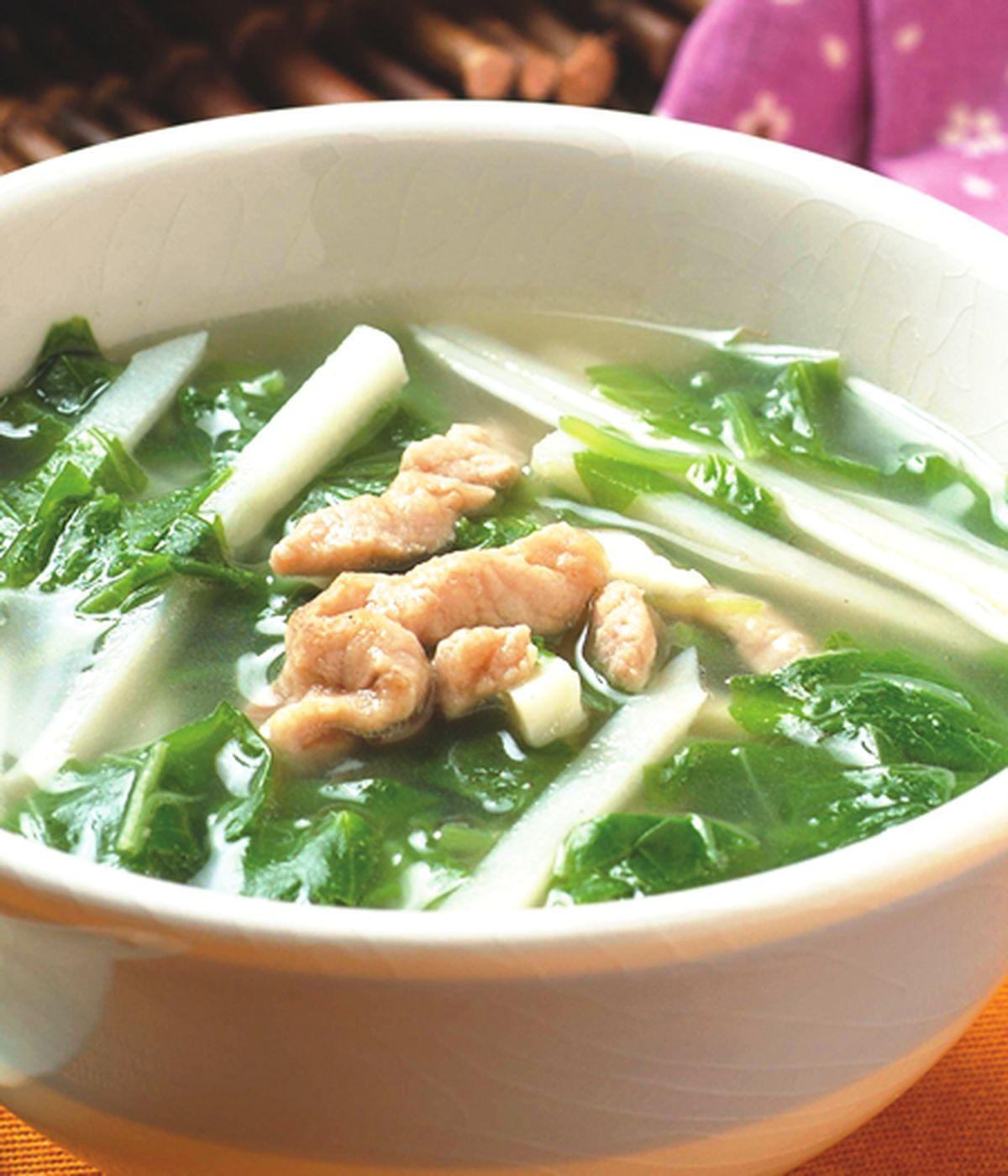 食譜:莧菜竹筍湯