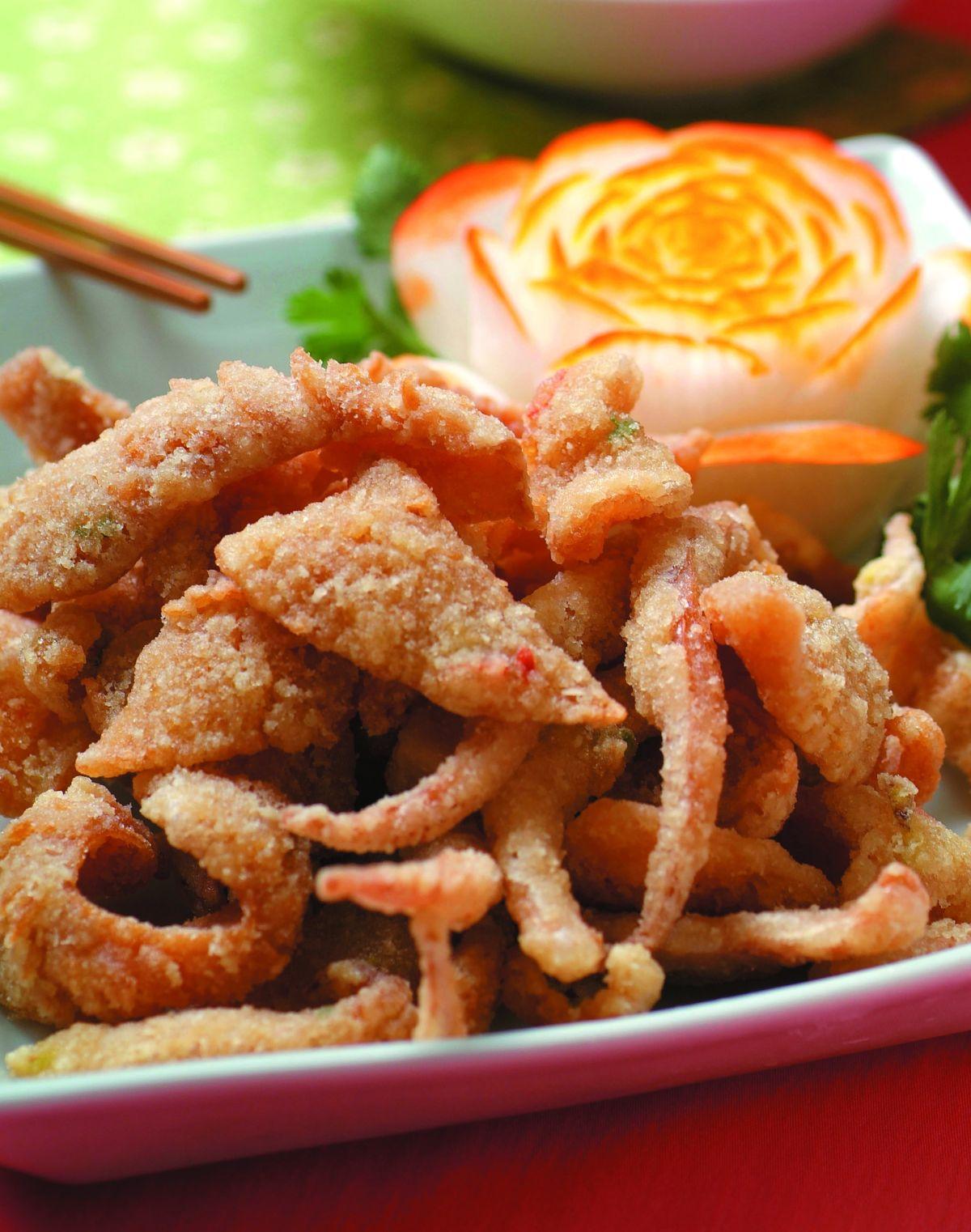 食譜:酥炸魷魚