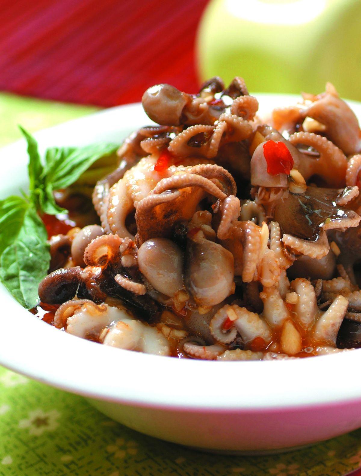 食譜:涼拌小章魚