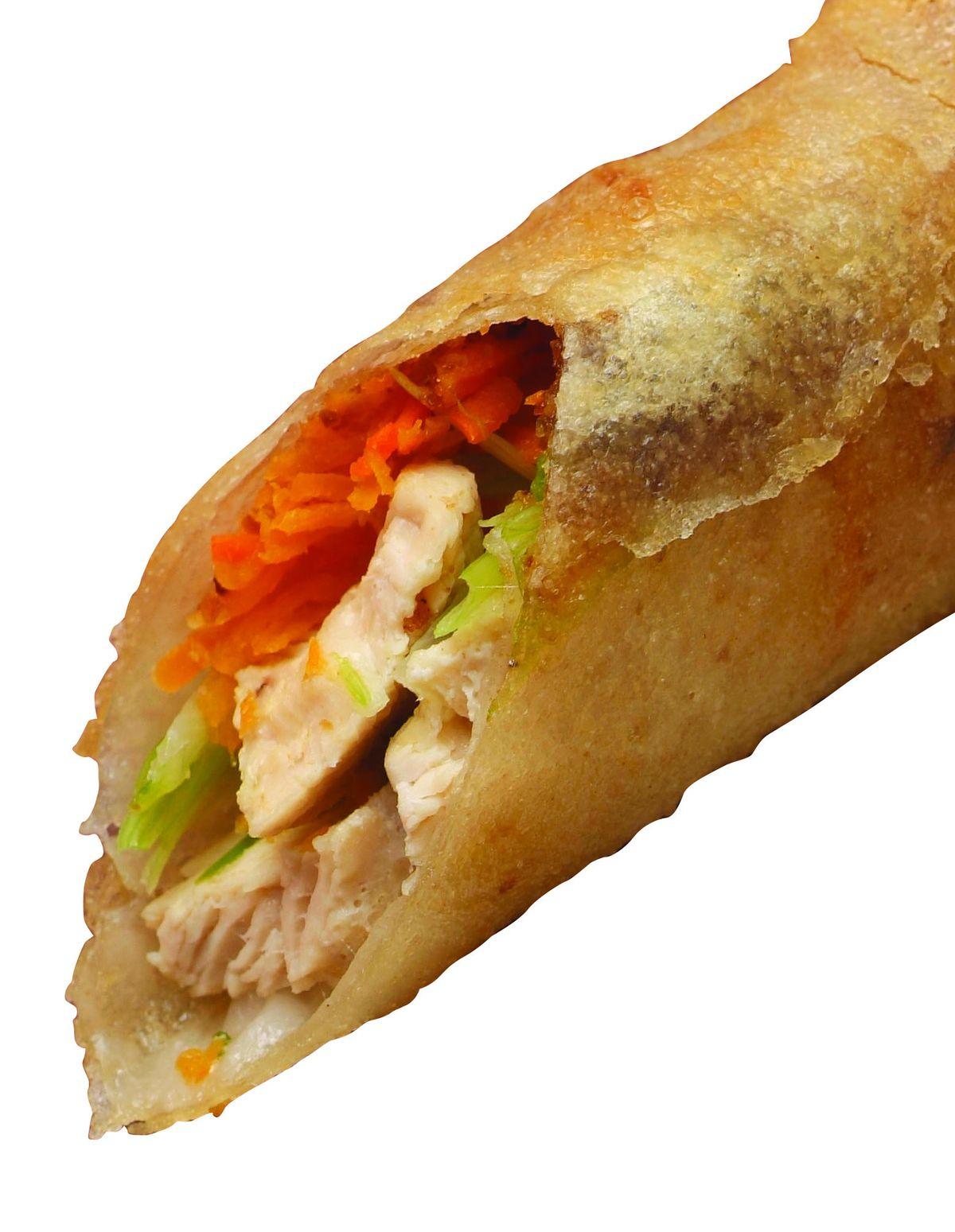 食譜:雞肉春捲