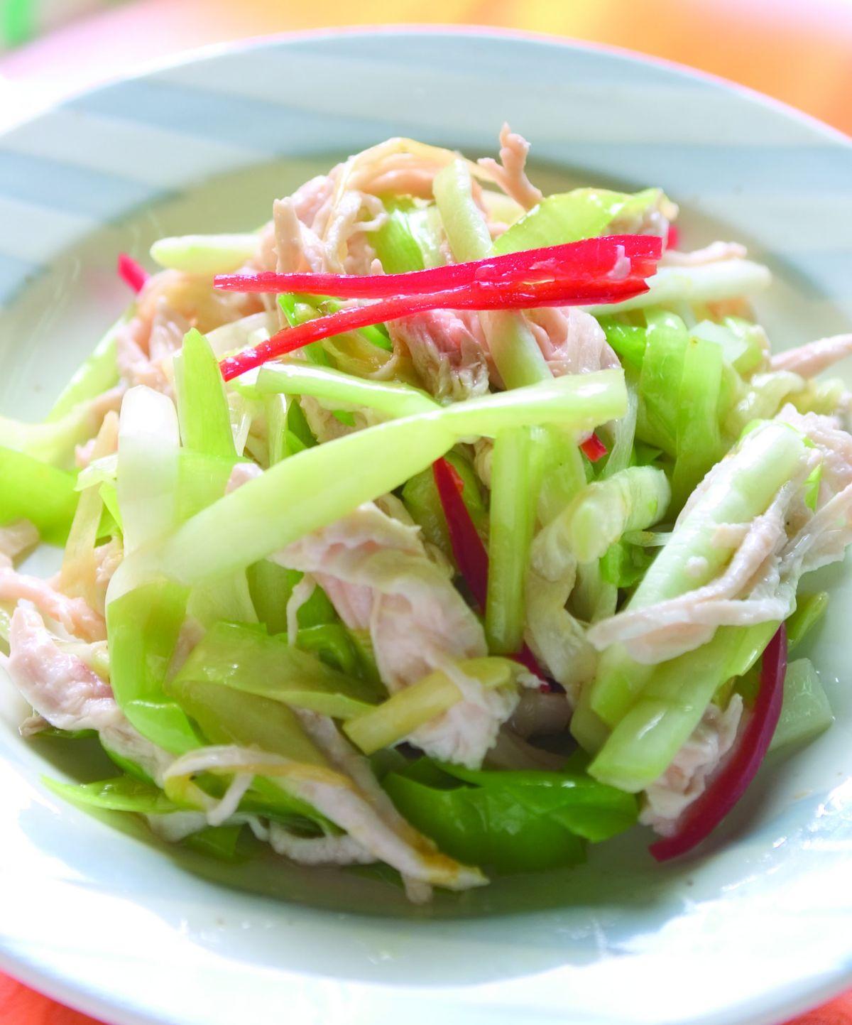 食譜:韭黃拌雞絲(1)