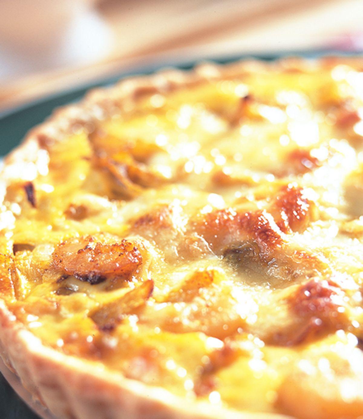食譜:洋蔥蝦仁派