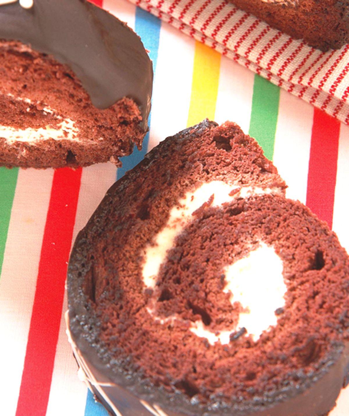 食譜:雙色巧克力瑞士捲