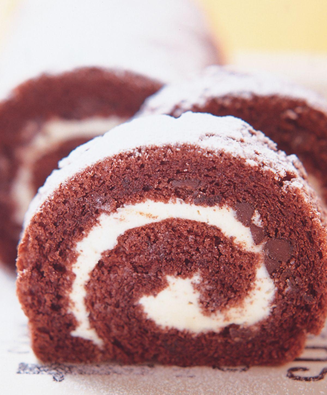 食譜:巧克力豆瑞士捲