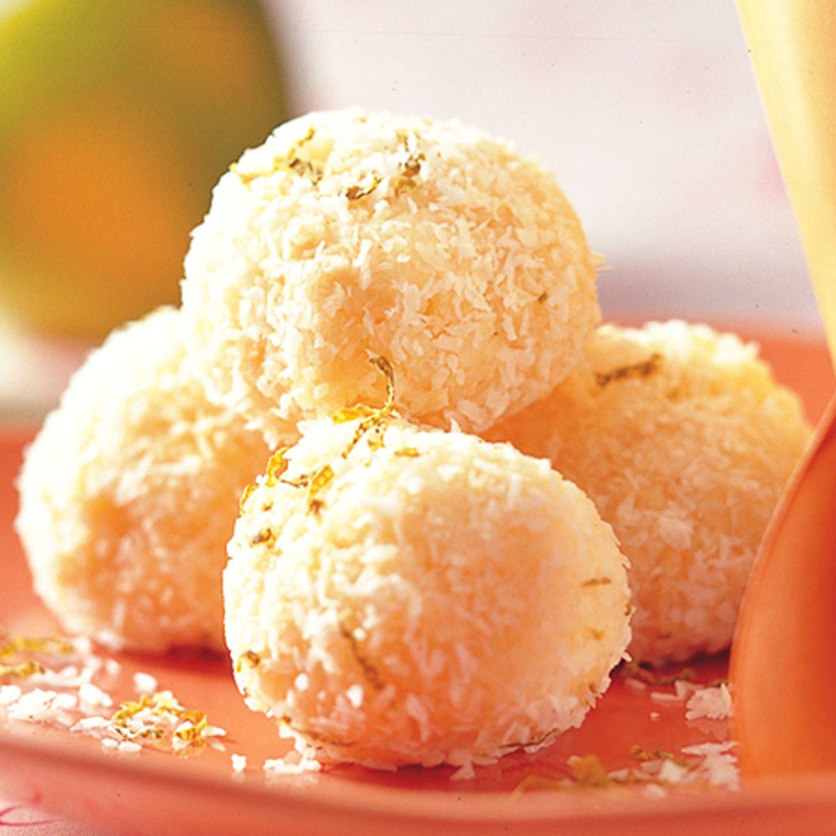 食譜:檸檬椰子球