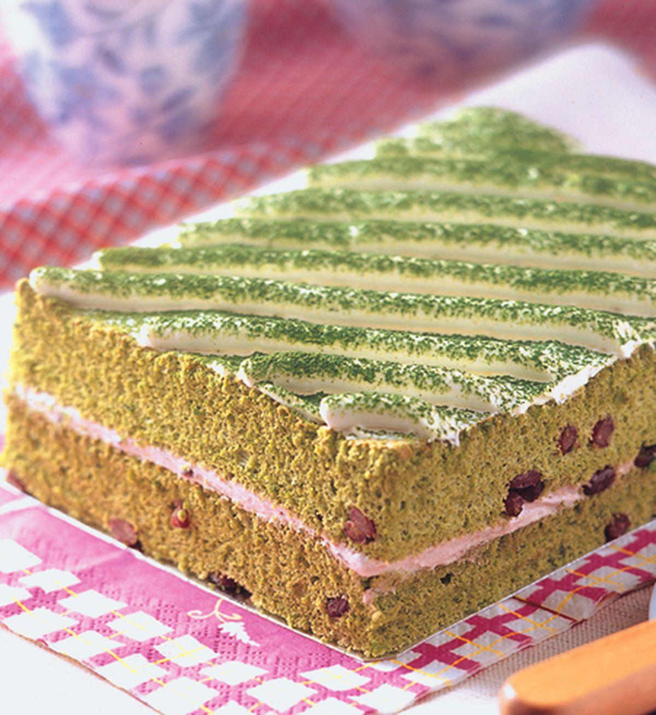 食譜:抹茶紅豆蛋糕