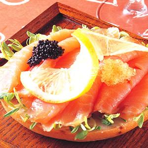 挪威煙燻鮭魚Bagel