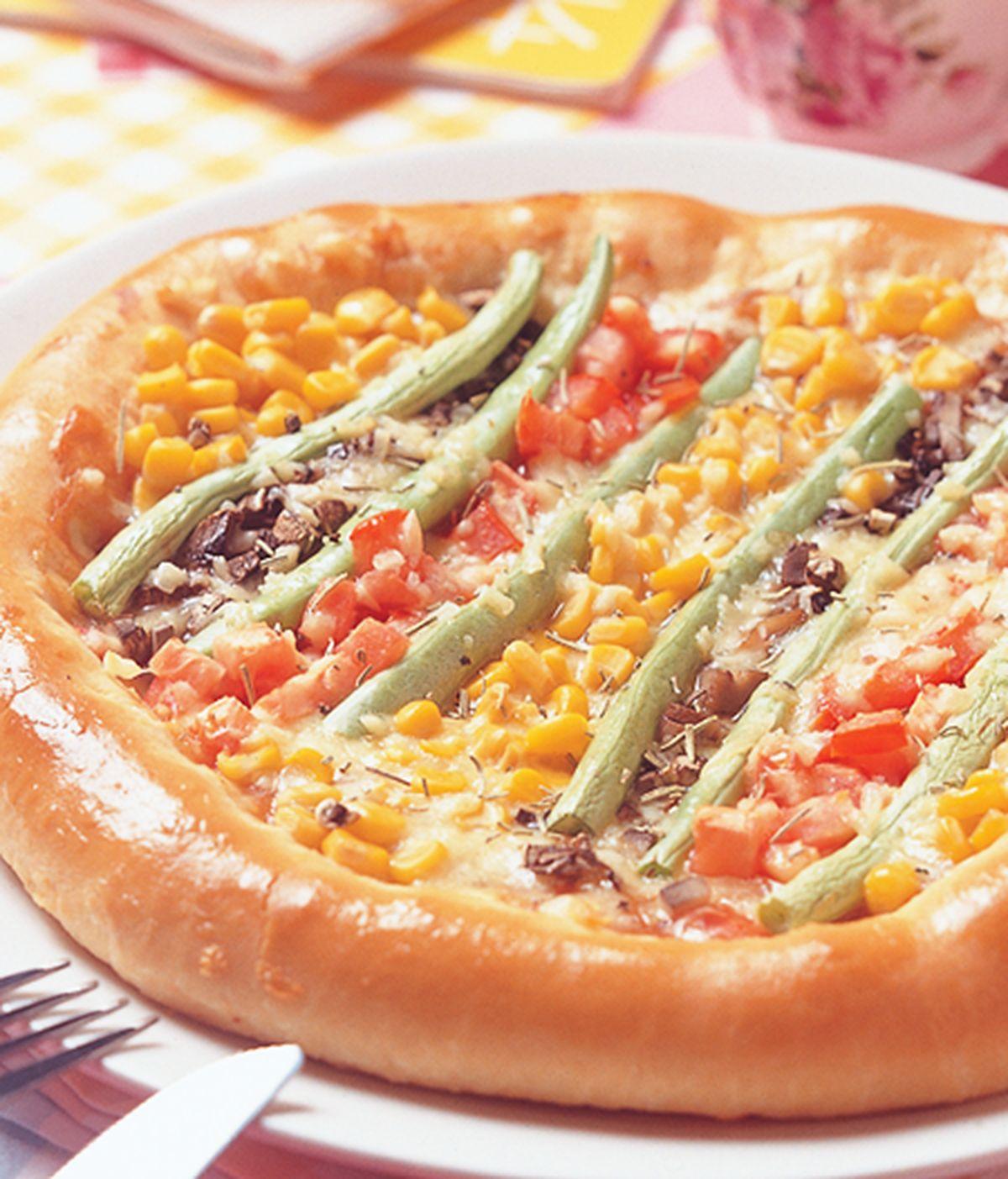 食譜:蕃茄蔬菜披薩