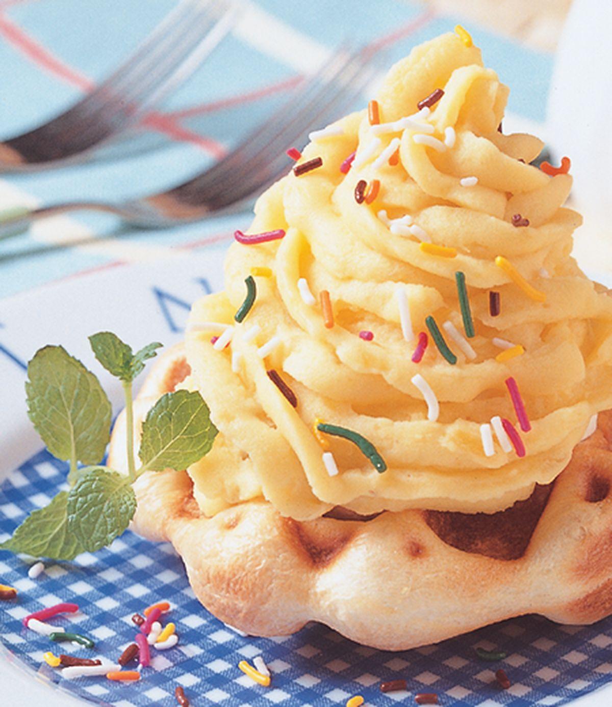 食譜:比利時地瓜蒙布朗鬆餅塔