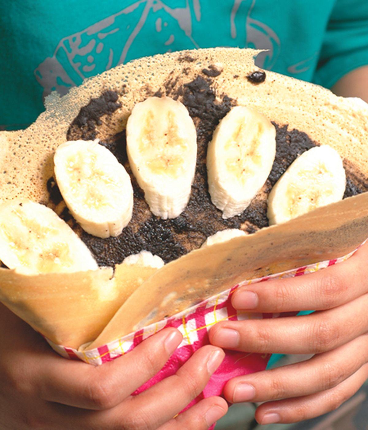 食譜:巧克力香蕉可麗餅