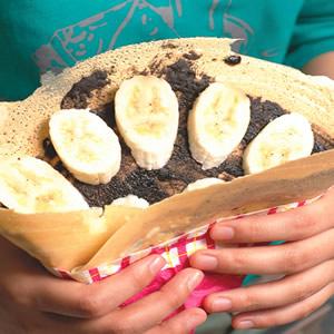 巧克力香蕉可麗餅
