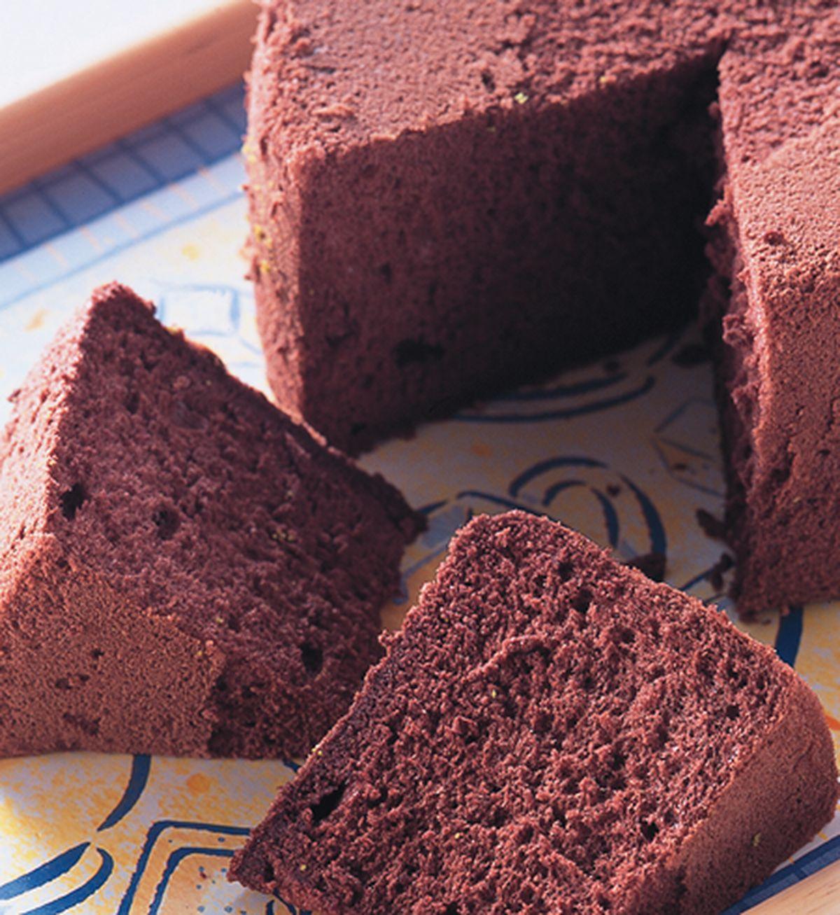 食譜:巧克力戚風蛋糕體