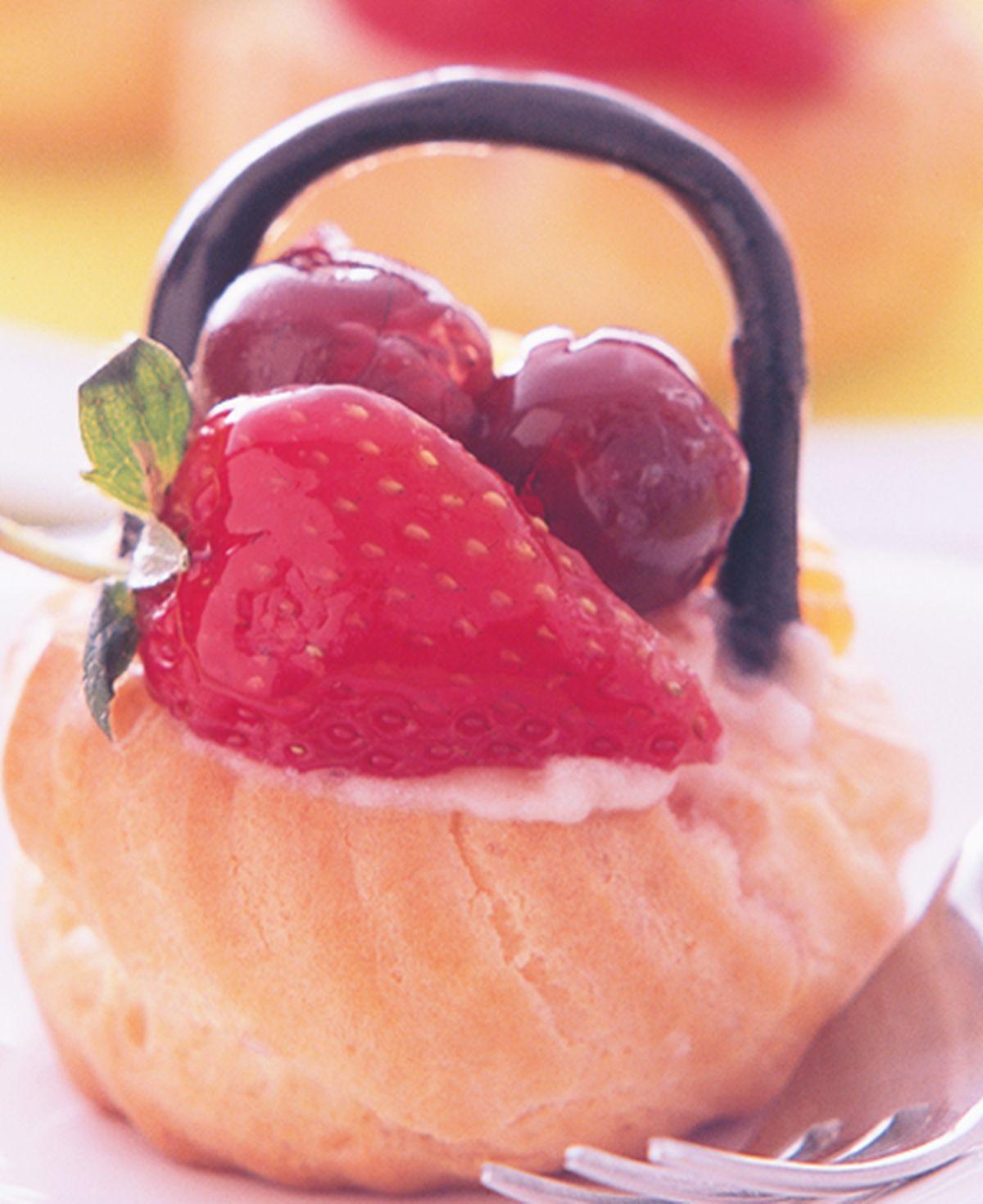 食譜:水果泡芙籃