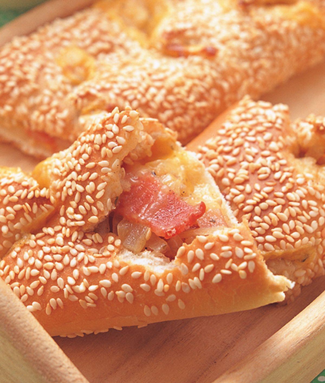 食譜:培根麵包條