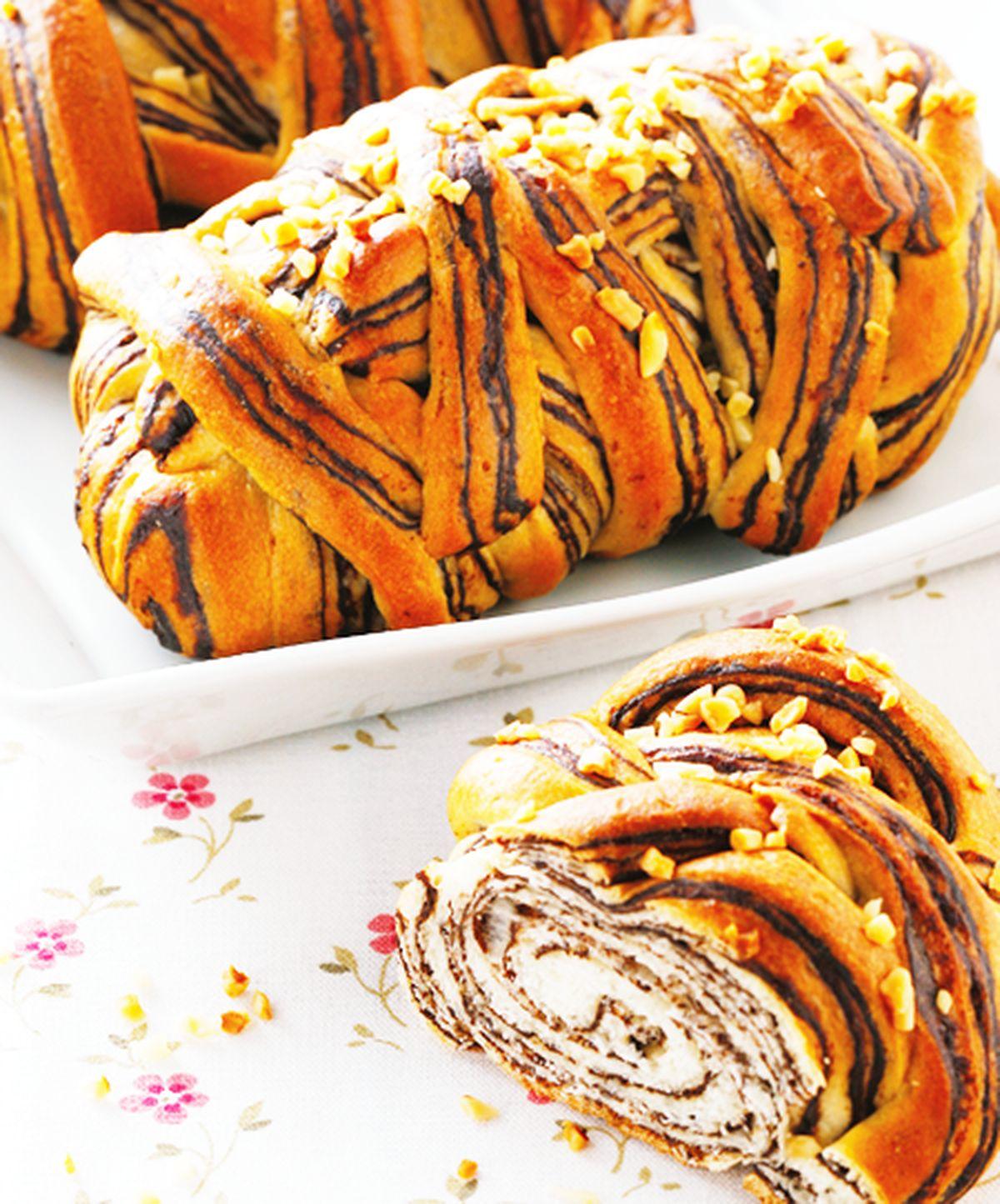 食譜:鮮奶大理石麵包