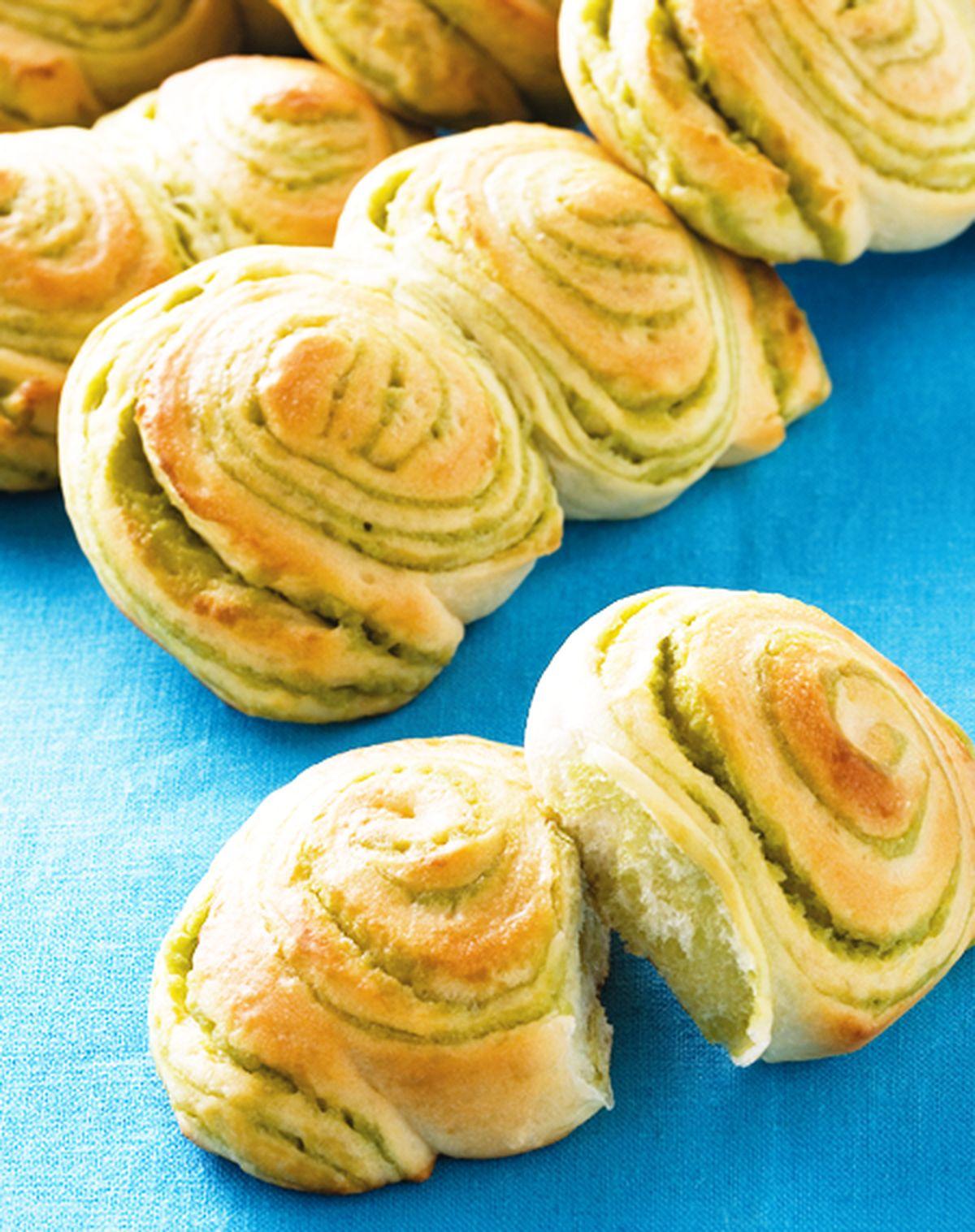 食譜:抹茶雙峰麵包