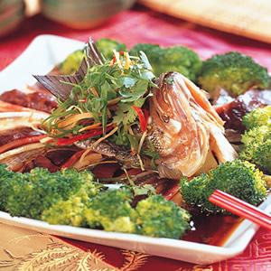 蔥油麒麟魚