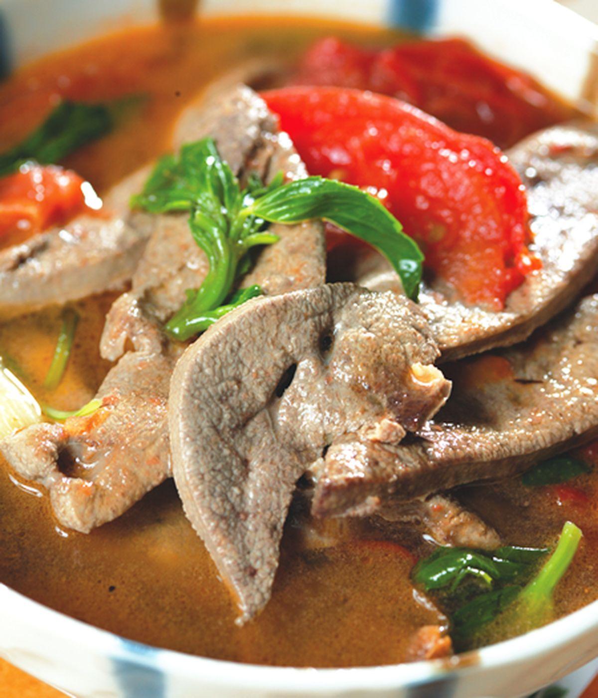 食譜:麻油蕃茄豬肝湯