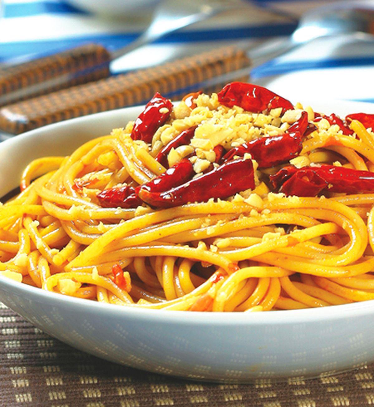 食譜:宮保義大利麵