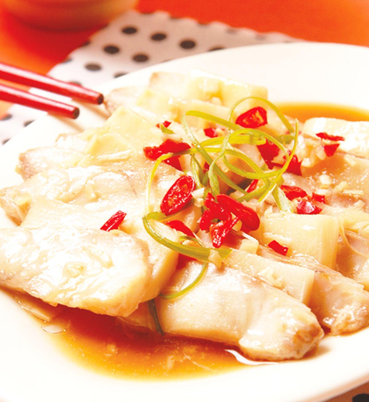 食譜:筍片蒸魚