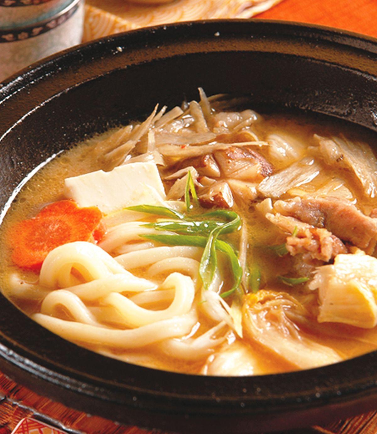 食譜:味噌泡菜烏龍麵