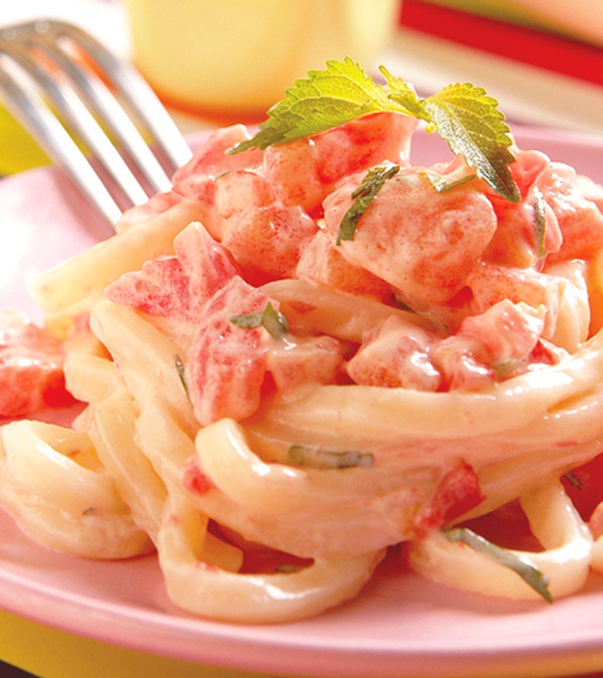 食譜:蕃茄美奶拌麵