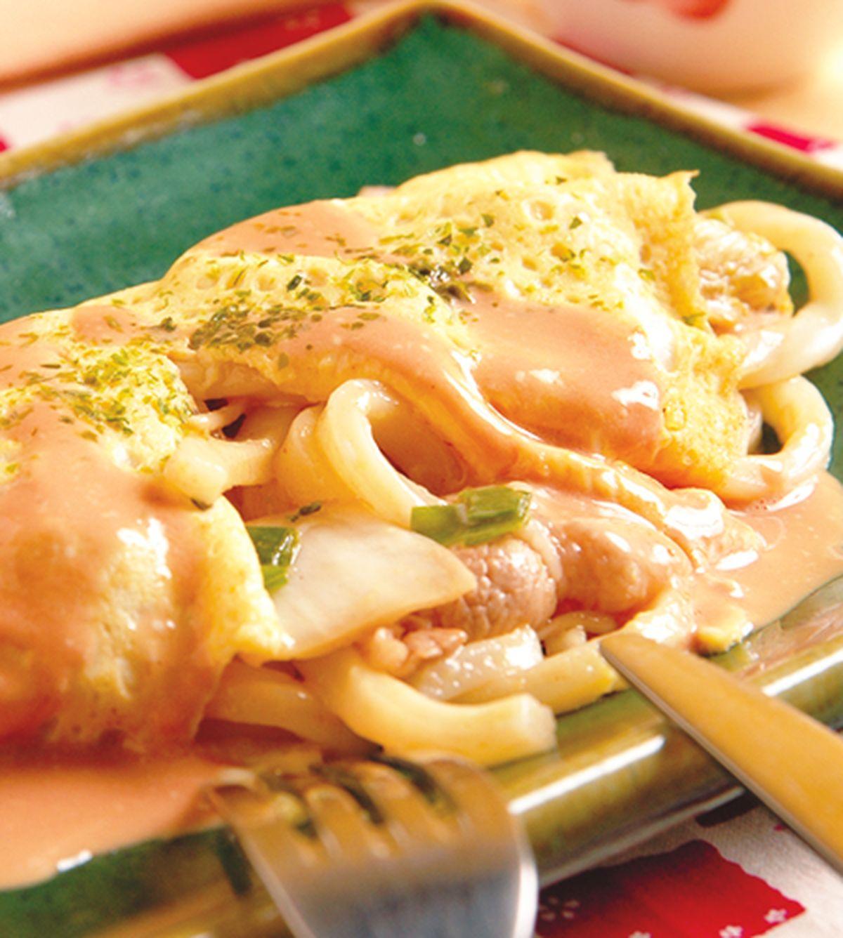食譜:蛋包烏龍麵
