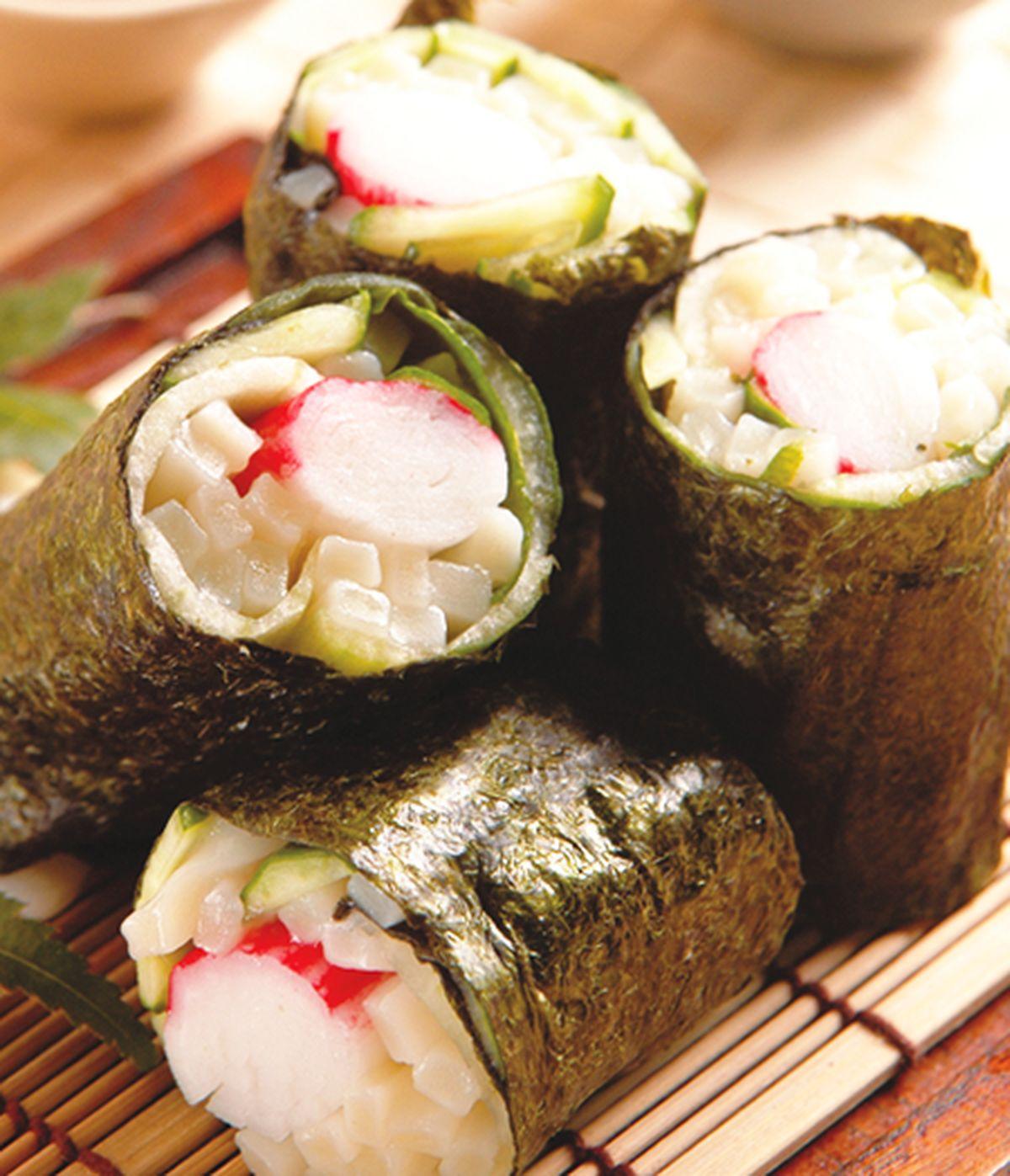 食譜:烏龍麵海苔壽司捲