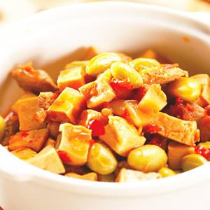 榨菜毛豆干丁