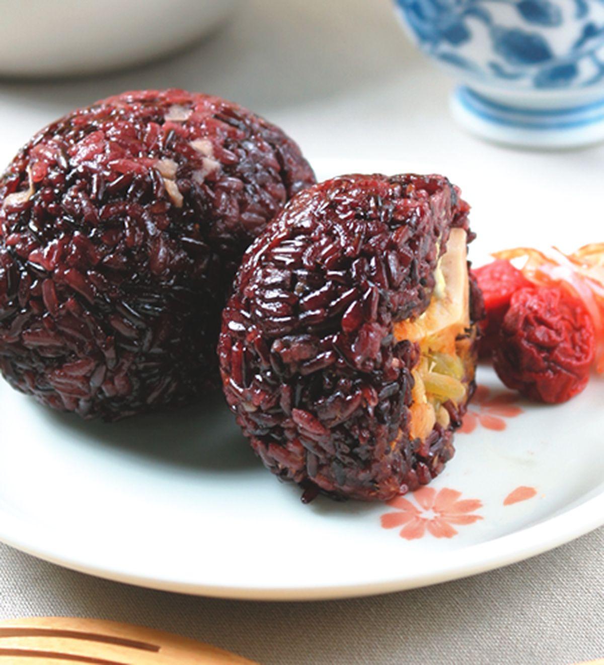 食譜:紫米飯糰