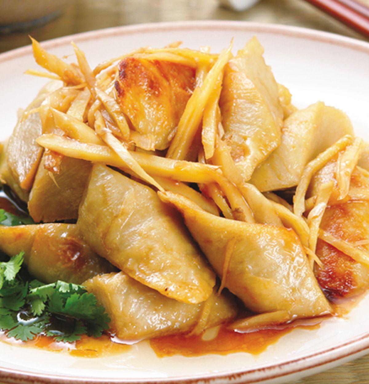 食譜:薑絲炒麵腸