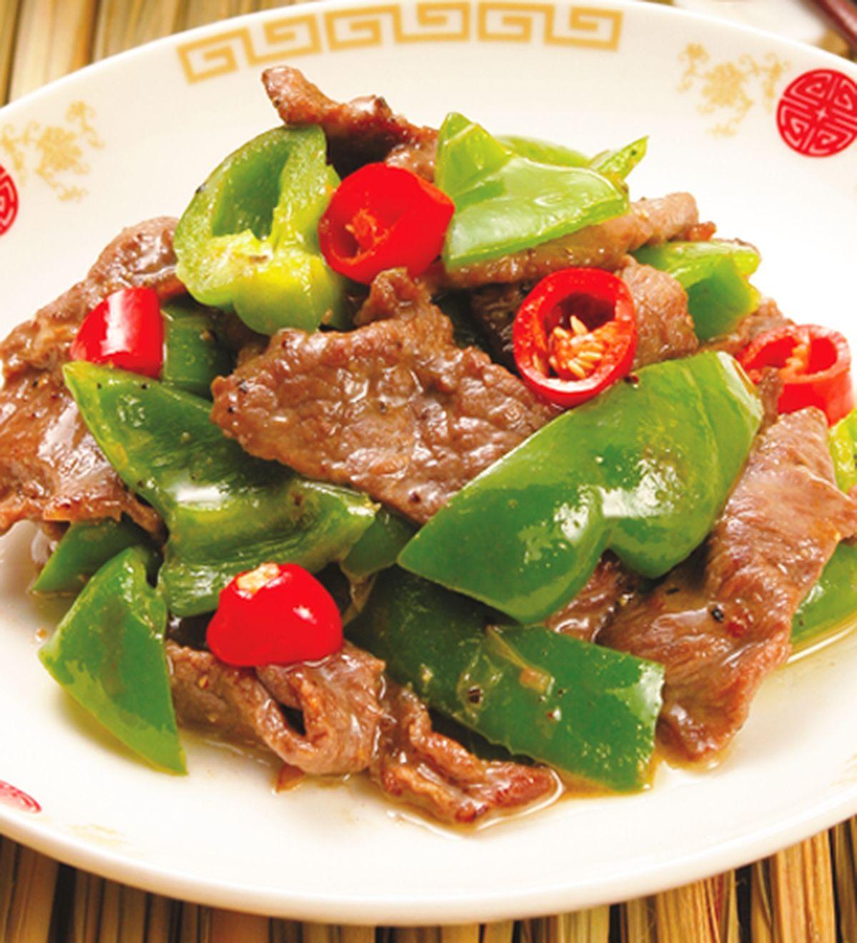 食譜:青椒牛肉片