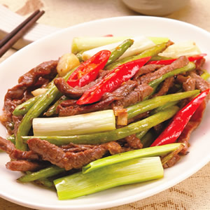 牛肉絲炒四季豆