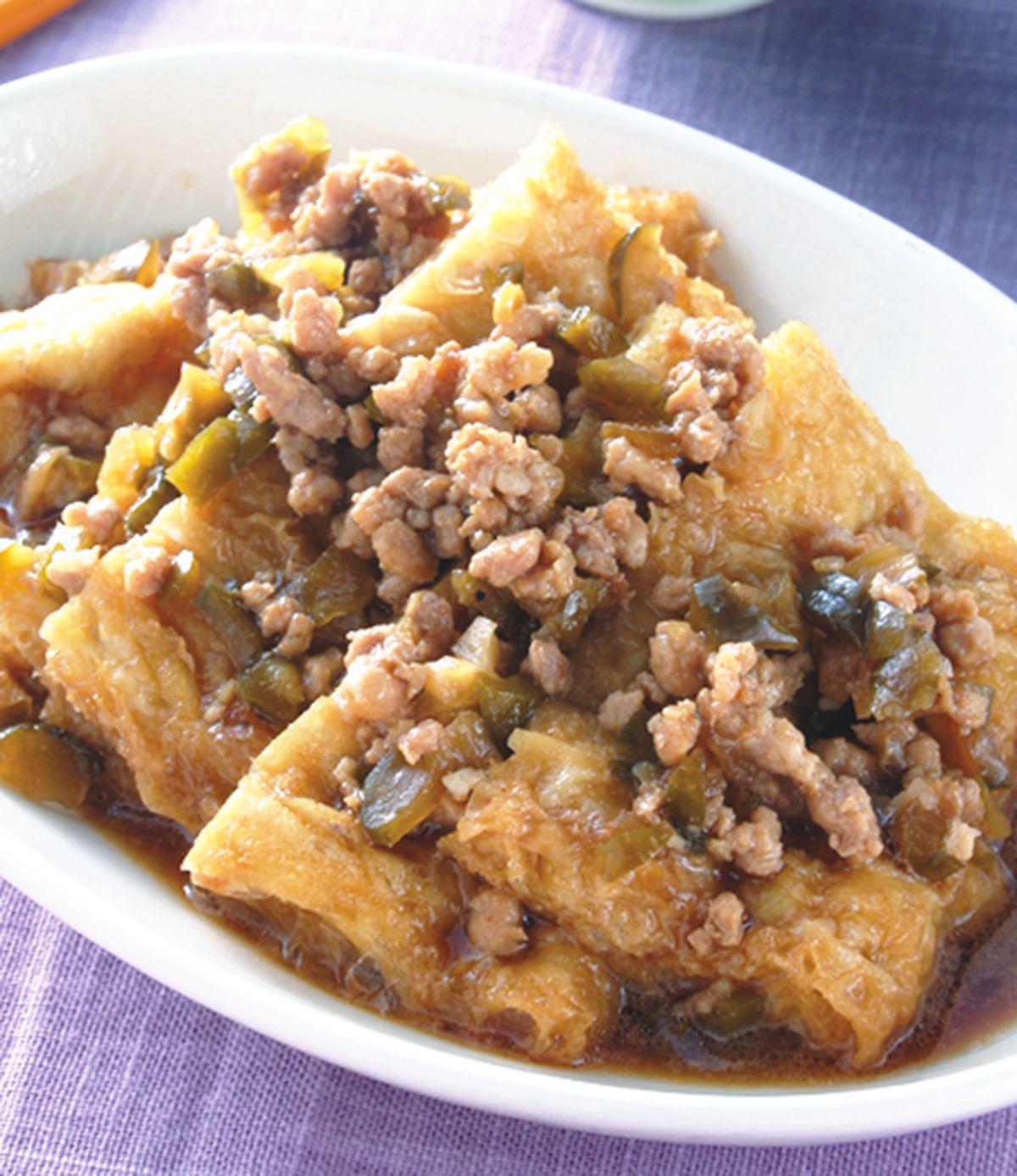 食譜:瓜仔肉燥燜豆包