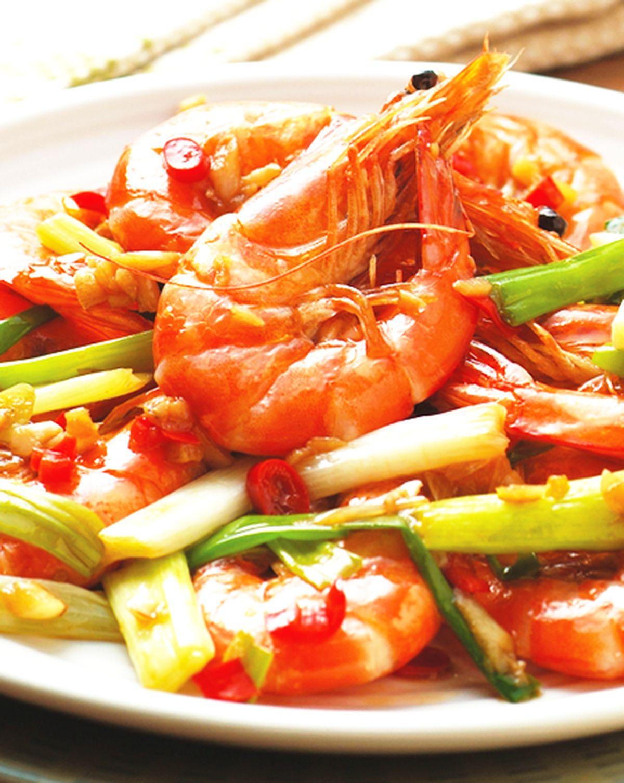 食譜:蔥爆蝦