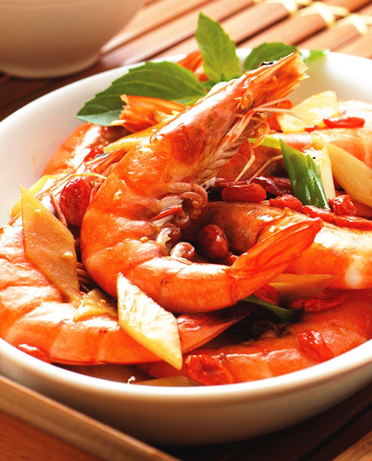 食譜:醬爆麻油蝦
