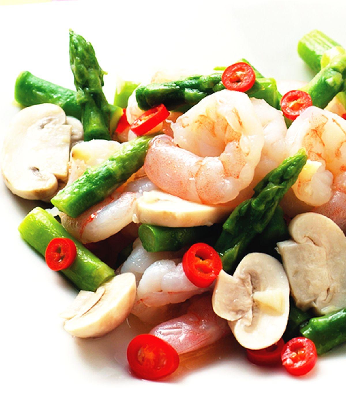 食譜:清炒蘆筍蝦仁