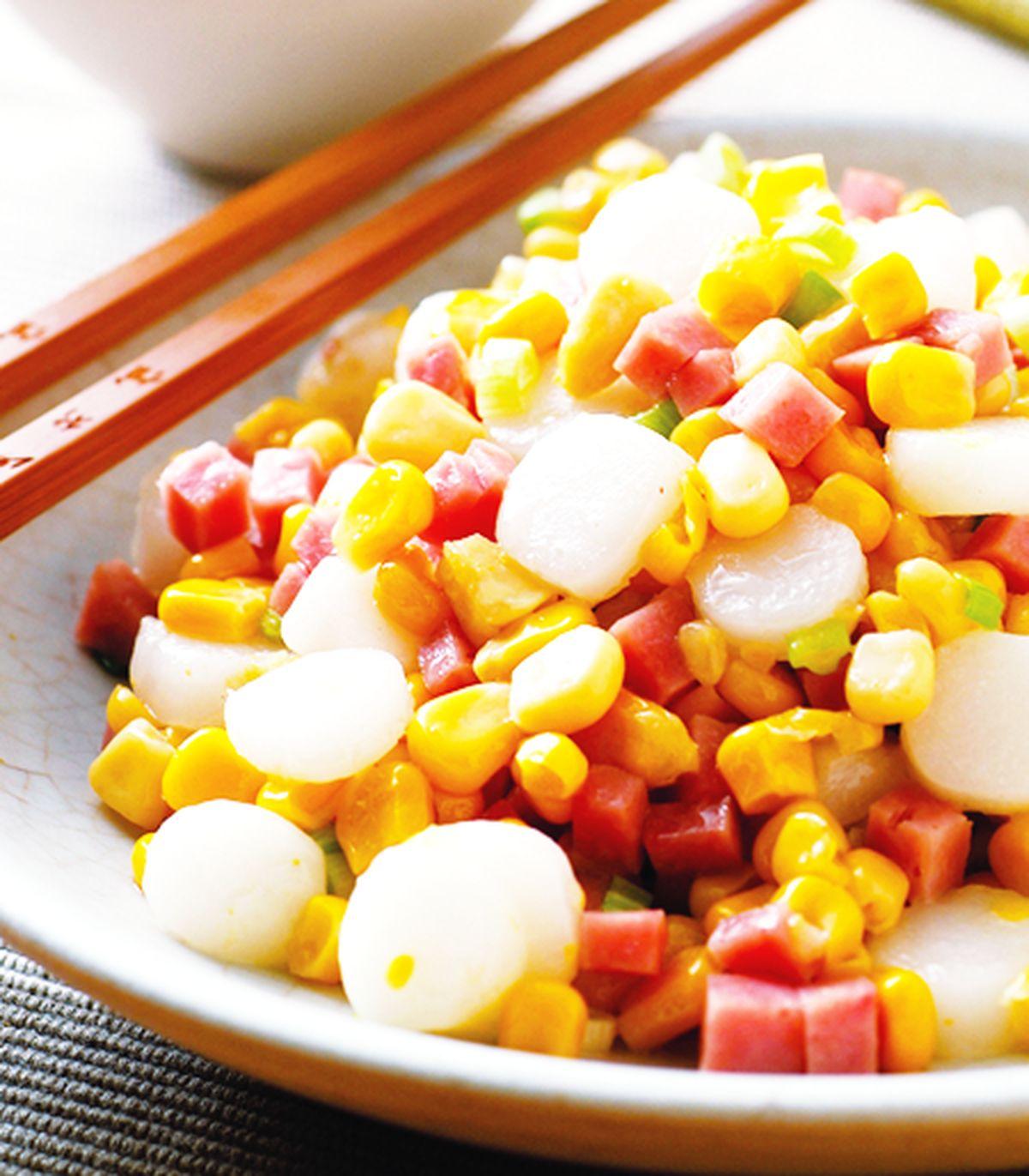 食譜:雙色玉米炒年糕