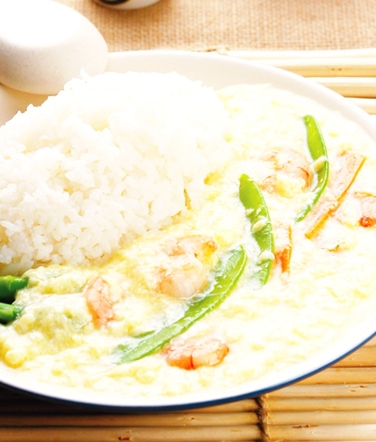 食譜:滑蛋蝦仁燴飯(1)