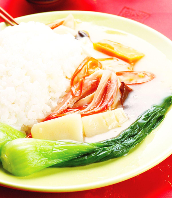 食譜:酸辣中捲燴飯