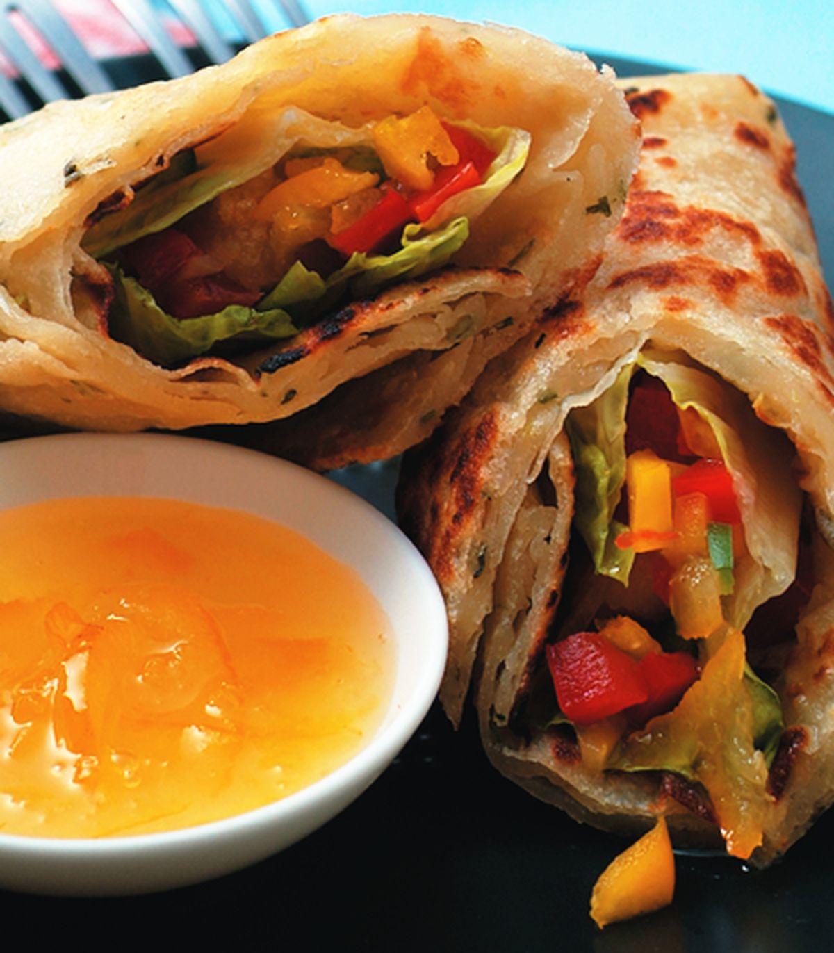 食譜:柳橙雞丁捲