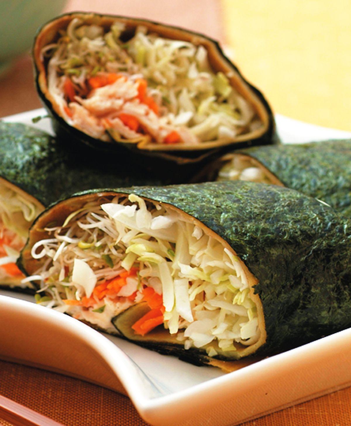 食譜:青蔬雞絲捲