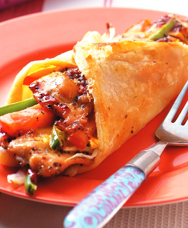 食譜:黑胡椒雞片捲