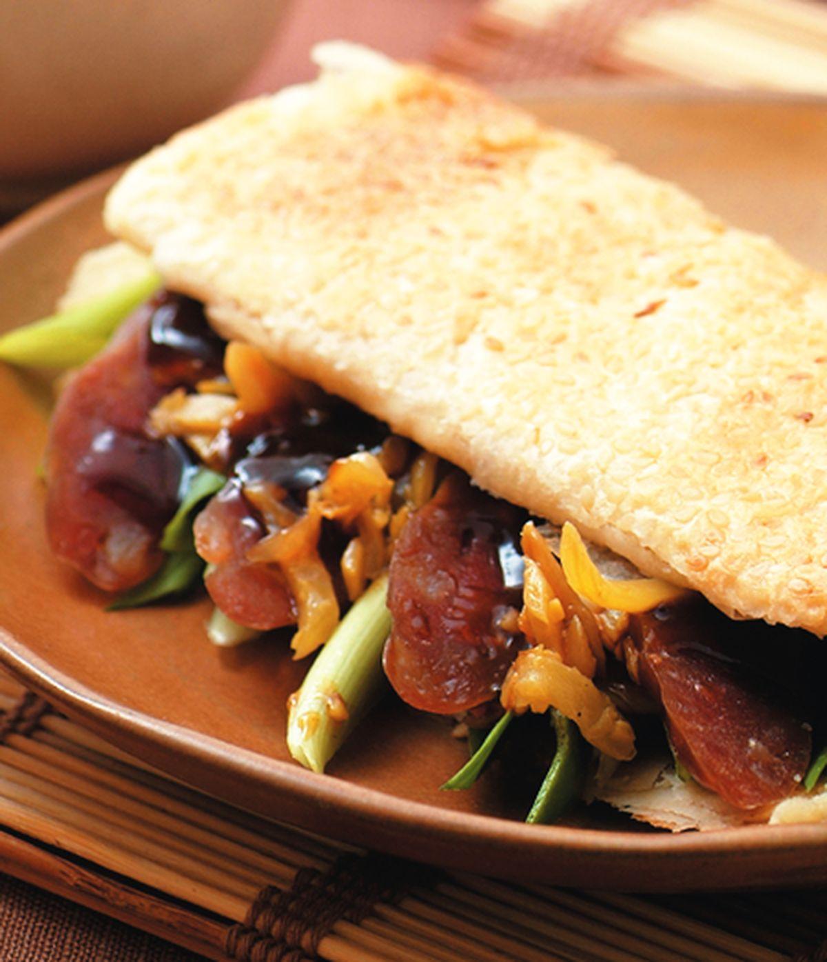食譜:台式香腸捲餅