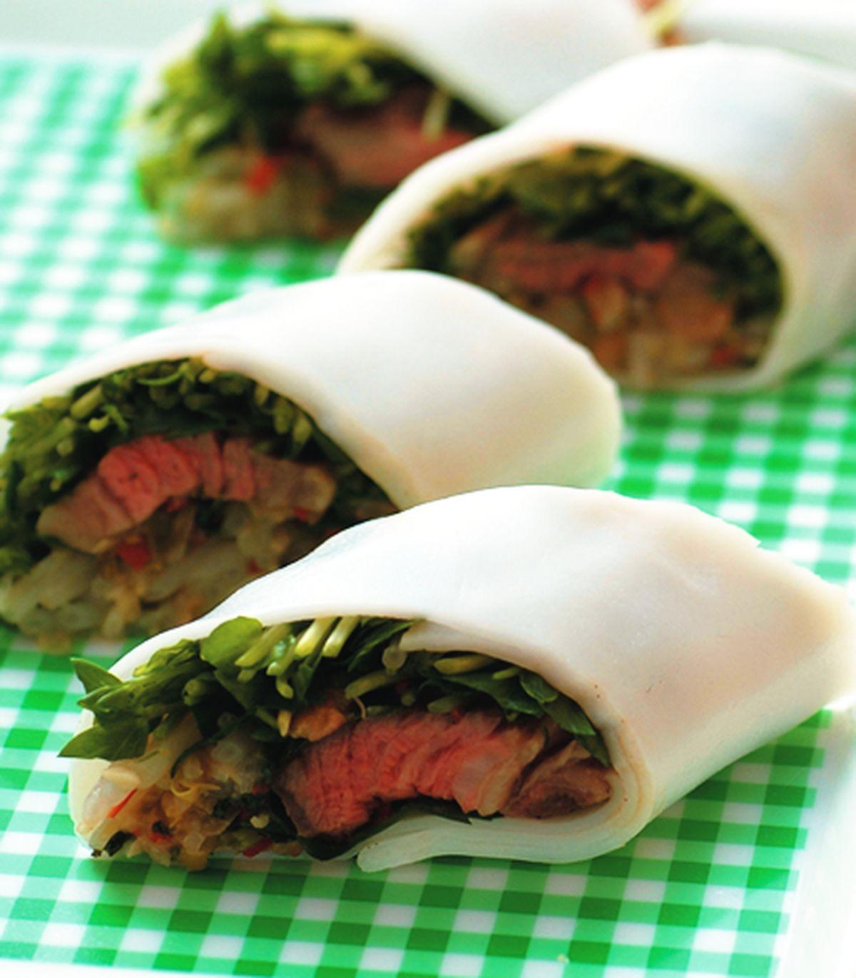 食譜:泰式牛肉河粉捲